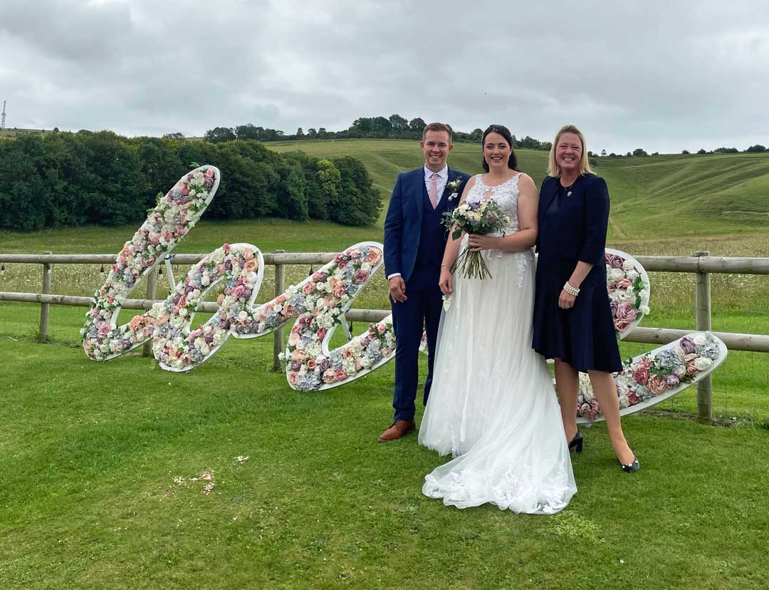 A happy bride & groom after their wedding with Tara the Celebrant